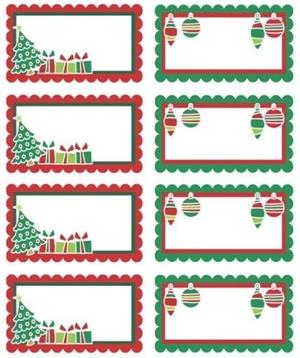 Карточки для подарков на новый год
