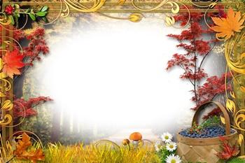Большой фон для плаката «Осень» из 9 листов А4