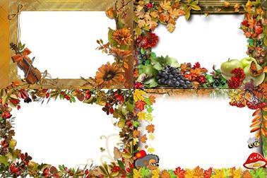 Прозрачные рамки «Осень»
